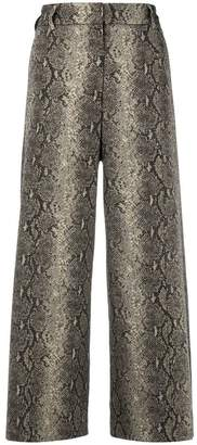Twin-Set snake print cropped trousers