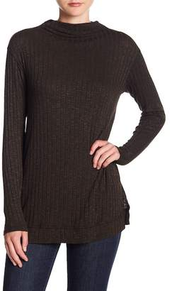 Michael Stars Cowl Neck Ribbed Top