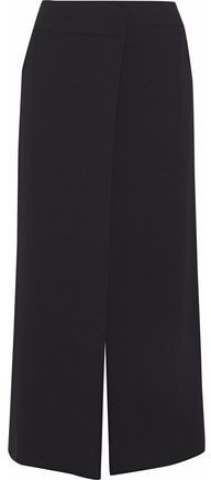 Lomand Cropped Crepe Wide-Leg Pants