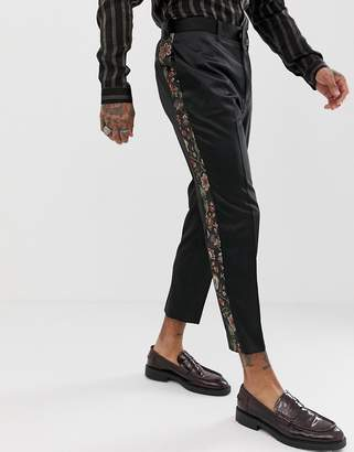 Asos Edition EDITION tapered suit pants with floral jacquard