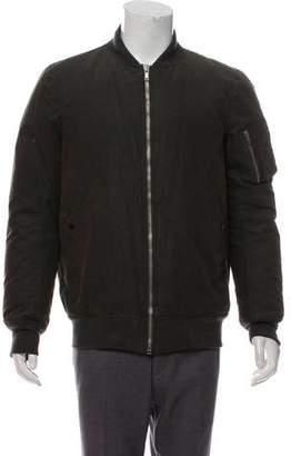 Rick Owens Waxed Bomber Jacket