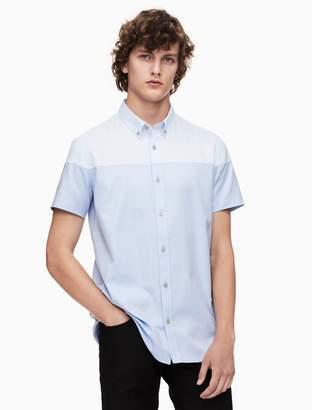 Calvin Klein regular fit oxford short sleeve shirt
