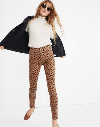 "Madewell Tall 10"" High-Rise Skinny Jeans in Leopard Dot"
