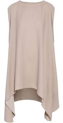 IRO Asymmetric Draped Crepe De Chine Mini Dress
