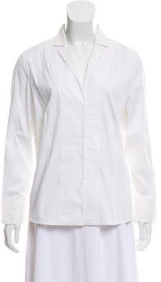 Akris Collared Button-Up Top