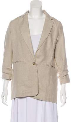 MICHAEL Michael Kors Linen Single-Breasted Blazer