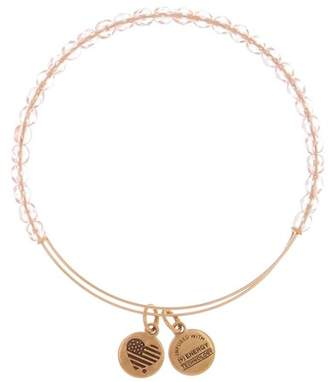 Alex and Ani Pink Beaded Expandable Wire Bracelet