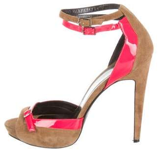 Pierre Hardy Suede Ankle-Strap Pumps