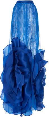 Costarellos Sheer Silk Organza And Chiffon Tulle Skirt