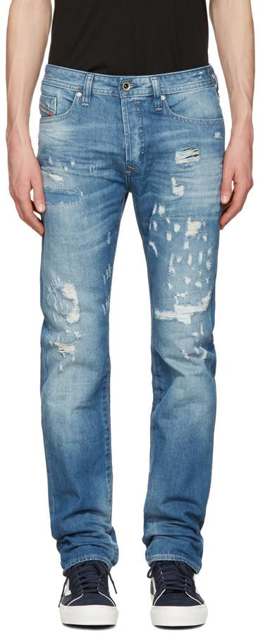 DieselDiesel Blue Buster Destryoed Jeans