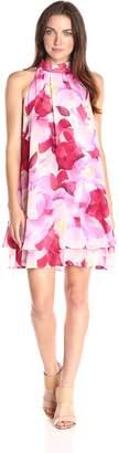 Eliza J Women's Halter Float Dress with Ruffles