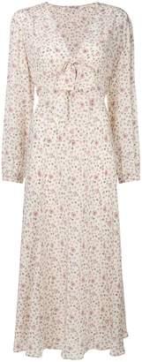 Miu Miu rose print maxi dress