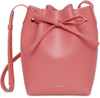Mansur Gavriel Saffiano Mini Bucket Bag - Blush