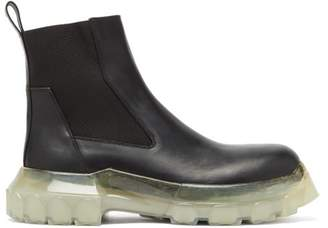 Rick Owens Bozo Tractor Beetle Leather Chelsea Boots - Mens - Black