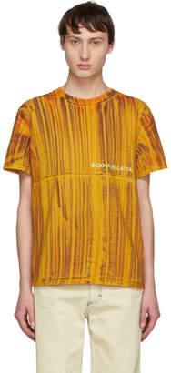 Eckhaus Latta Orange Dyed Lapped T-Shirt