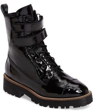 Women's Shellys London Tyra Combat Boot $168.95 thestylecure.com