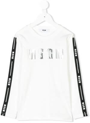 MSGM long-sleeve logo top