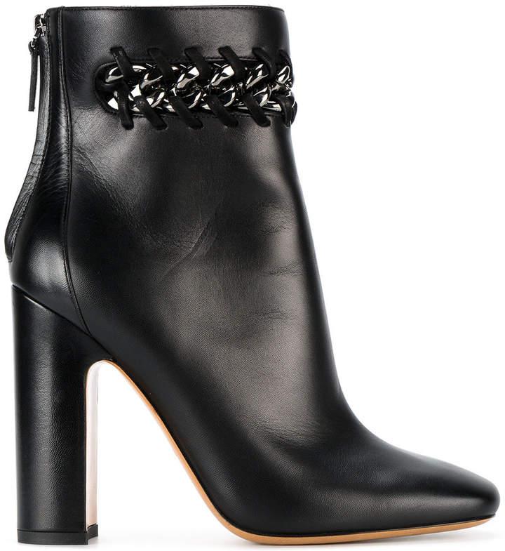 Valentino Garavani woven chain detail ankle boots