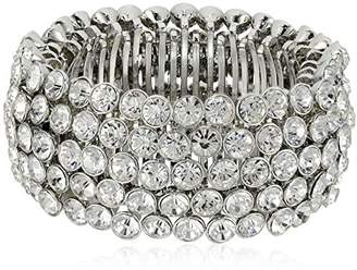 Carolee Stretch Silver Crystal Bracelet