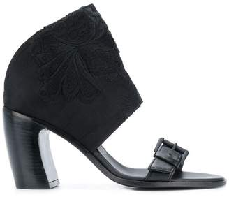 Ann Demeulemeester embroidered block heel sandals