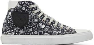 Saint Laurent Black Bandana Bedford Sneakers