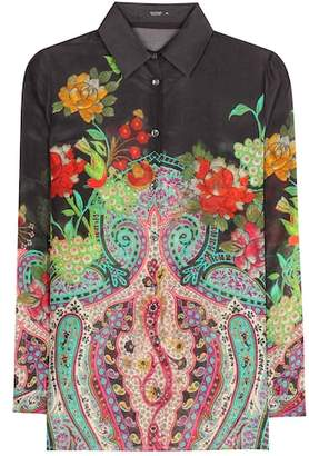Etro Silk and cotton printed shirt