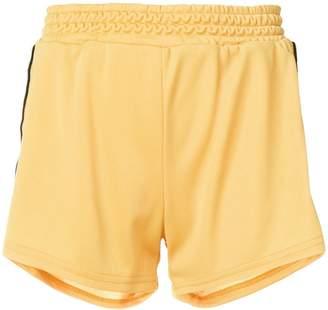 Chiara Ferragni eye stripe jersey shorts