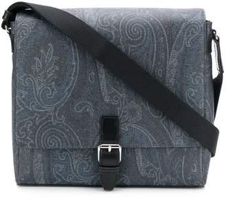 Etro paisley print messenger bag