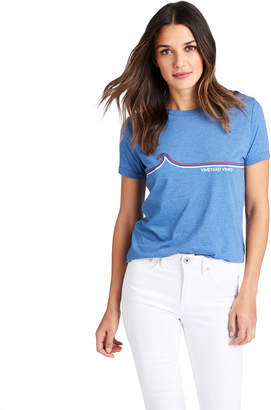 Vineyard Vines Linear Waves Ringer Tee