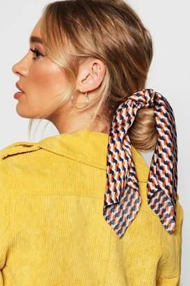 boohoo Geometric Scarf Scrunchie Hair Tie