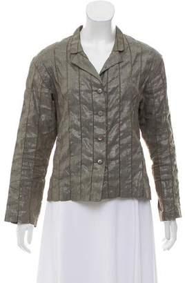 Issey Miyake Fete Cutout Linen Blazer
