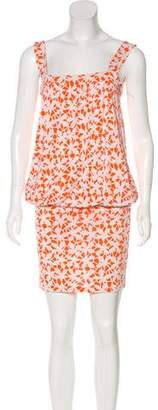 Diane von Furstenberg Drop Waist Sleeveless Knee-Length Dress