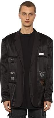 Vetements Oversized Inside-Out Satin Jacket