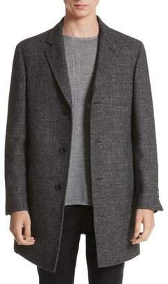 John Varvatos Collection Walsh Wool Blend Topcoat
