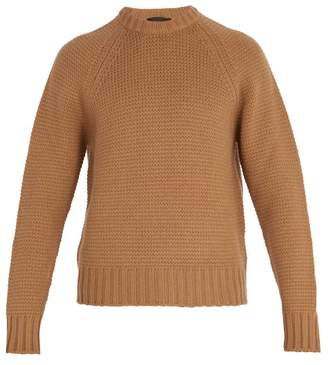 Prada - Crew Neck Wool And Cashmere Blend Sweater - Mens - Camel