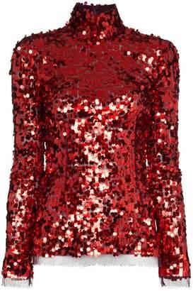 Dolce & Gabbana turtle neck sequin embellished top
