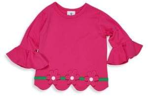 Florence Eiseman Little Girl's Floral Ruffle Top