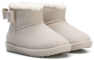MonnaLisa bow-embellished ankle boots