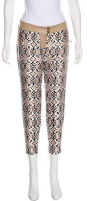 Thomas Wylde Floral Low-Rise Skinny Pants