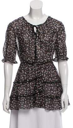 Altuzarra Floral Print Silk Top w/ Tags