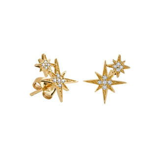 Sydney Evan Diamond Double Starburst Stud Earrings