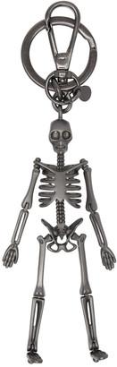Alexander McQueen Gunmetal Skeleton Keychain $275 thestylecure.com