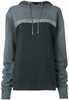 Saint Laurent Love Me Forever slogan print hoodie