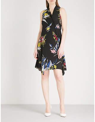 Diane von Furstenberg Floral-pattern silk mini dress