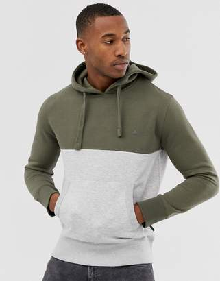 French Connection overhead block color hoodie