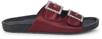 Ava & Aiden Embellished-Buckle Satin Sandals