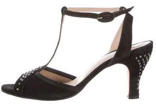 Repetto Suede Ankle Strap Sandals