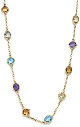 """Bloomingdale's Multi Gemstone Beaded Necklace in 14K Yellow Gold, 17"""" - 100% Exclusive"""