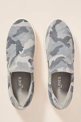 J/Slides Grey Camo Platform Sneakers