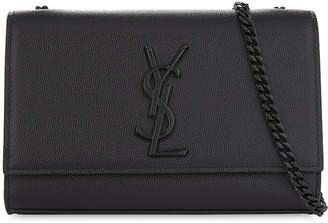 Saint Laurent Ladies Black Elegant Monogram Kate Pebbled Leather Cross-Body Bag